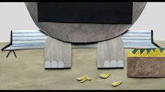 "paper cut-out animation, 9'04"", © Folimage / La Boite... productions 2014  Script, direction, design: Olesya Shchukina Music: Yan Volsy Sound design: Philippe Fontaine Cinematographer: David Toutevoix Backgrounds: Lucrèce Andreae, Sandrine Héritier Animation: Lucrèce Andreae, Marjolaine Parot, Olesya Shchukina  Some making of photos: http://spitsbergenisland.com/Le-velo-de-l-elephant-The-Elephant-and-The-Bicycle"