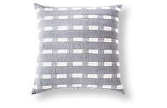 Berchi 20x20 Cotton Pillow, Gray/White - Bolé Road Textiles - Brands | One Kings Lane Elephant Logo, Office Set, Brand Collection, Family Room Design, Cotton Pillow, Modern Room, Custom Furniture, Living Room Designs, Hand Weaving