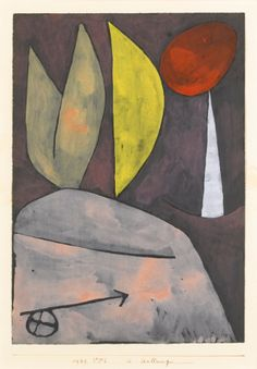 Paul Klee 1879 - 1940 IN STELLUNG (IN POSITION) signed Klee (lower right); titled, dated 1939 and numbered VV6 on the artist's mount watercolour on paper laid down on the artist's mount image size: 31.3 by 22cm.; 12 1/4 by 8 5/8 in. mount size: 50 by 35cm.; 19 5/8 by 13 3/4 in. Executed in 1939.