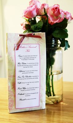 mothers survival gift, baby shower, gift idea,