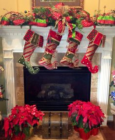 Christmas Mantel with stockings
