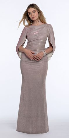 This Metallic Drape Back Ruched Front Sophisticated Style, Elegant, Wedding Guest Style, Get Glam, Silky Dress, Prom Night, Bateau Neckline, Classic Looks, Special Occasion Dresses