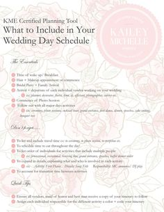Stay On Time On The Big Day Planning Your Wedding Reception