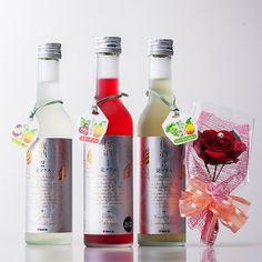 紀州産の完熟南高梅と美が一つになった贅沢な梅酒。【美プラス3本セット・アートフラワー】