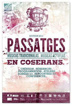 Passatges 2013 poster by Fabien Barral www.mr-cup.com