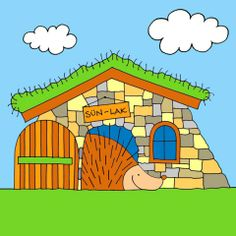 Bogyó és Babóca, Sün Soma háza Cartoon Ideas, Baby Room, Room Ideas, Cake, Illustration, House, Home, Kuchen, Nursery