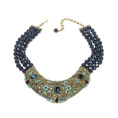 """Shop Heidi Daus """"Let Them Eat Cake"""" Beaded 3-Row Crystal-Accented Bib Necklace at HSN mobile"""