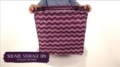 Thirty-One Gifts Square Storage Bin. Fall 2014. Order from https://www.mythirtyone.com/368662