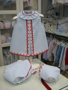 Baby Outfits, Little Girl Outfits, Little Girl Dresses, Kids Outfits, Baby Dress Design, Donia, Bebe Baby, Baby Embroidery, Baby Sewing