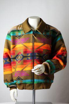Pendleton Navajo Blanket Jacket -- Large/XL -- High Western Wear