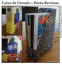 Handmade Cereal Box Book Holder