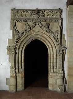 Gothic Doorway Date: ca. 1520\u201330 Geography: Made in Poitou & Gothic doorway: reworked | Gothic Doors and Gates Pezcame.Com