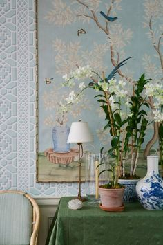 Gracie End Of The World, Chinoiserie, Vignettes, Ariel, Blue And White, Tapestry, Photo And Video, Interior Design, Painting