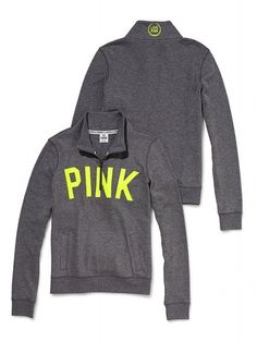 Half-Zip Pullover - Victoria's Secret PINK - Victoria's Secret (Heather Fog)