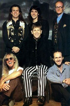 Elton with his band
