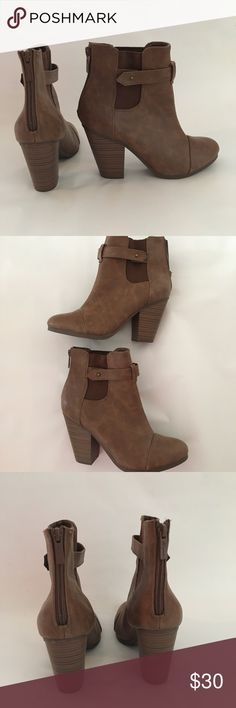Brown booties Brown booties, size 7.5. New Breckelles Shoes Ankle Boots & Booties