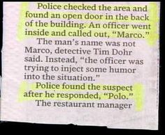 Strange And Funny Newspaper Clippings - Bits And Pieces Photo ...