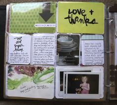 """AE - Include children's artwork (finger painting), the """"love & thanks"""" card came from a parcel"""