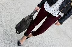 burgundy pants <3