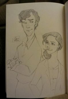 """lexiann: now there's Disney!Sherlolly. Oh dear, I think this may become a thing because it's glorious fun. :D"" - I love this person's drawing style!"