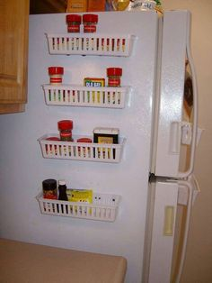 Little storage area on the fridge for the pens, sticky notes or even extra magnets. cool