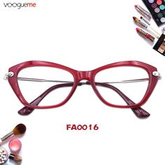 861677879ad Mary Fabulous Red Cat Eye Glasses Red eyeglasses with vintage full frame