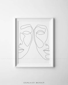 One Line Face Printable Art, Woman Faces Print, Black White Artwork, Female Drawing Poster, Original Minimalist Beauty Illustration Decor. INSTANT DOWNLOAD This listing is for a DIGITAL FILE of this artwork. No physical item will be sent. You can print the file at home, at a local