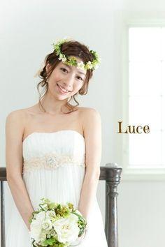 小花花冠スタイル - 結婚式ヘアメイク・ウェディングヘアメイク「ルーチェ」出張ヘアメイク