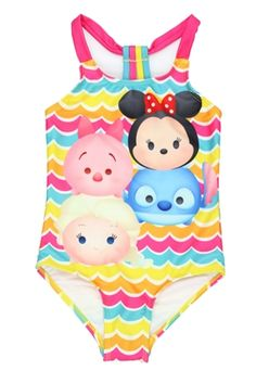 Get this #TsumTsum swimsuit with FREE SHIPPING for only $21.99! #Disney #MinnieMouse #Piglet #Stitch #Elsa Frozen Winnie the Pooh Lilo & Stitch