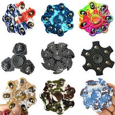 Hand Spinner Tri Ceramic Ball Desk Focus Finger Gyro Multi-Color...