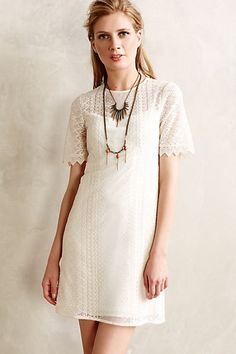 azores lace dress / anthropologie