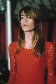 Françoise, 1968. Pretty in red.