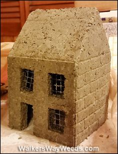 Yes, I made it myself: Constructing Molds Blog post on creating a miniature fairy house mold for papercrete, hypertufa, and cement .