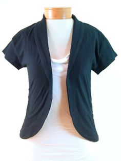 Organic Cap Sleeve Jacket, $46