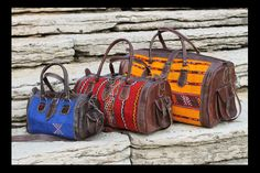 Capicua Leather and Kilim Bags from Morocco