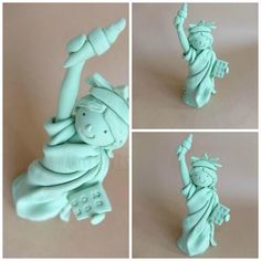 Statue of Liberty - Cake by Julia Hardy Fondant Toppers, Fondant Molds, New York Cake, Teacher Cakes, Cupcake Crafts, Travel Cake, 21st Cake, Chocolate Fondant, Fondant Tutorial