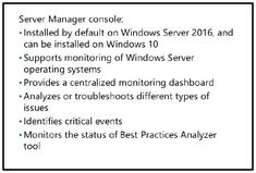 Monitoring a server with Server Manager