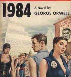 1984, NOVELA POLÍTICA DE FICCIÓN DISTÓPICA, escrita por George Orwell entre 1947 y 1948 y publicada el 8 de junio de 1949. La novela introdujo los conceptos del omnipresente y vigilante Gran Hermano o Hermano Mayor, de la notoria habitación 101, de la ubicua policía del Pensamiento y de la neolengua, adaptación del inglés, basándose en el principio de que lo que no forma parte de la lengua, no puede ser pensado. [http://es.wikipedia.org/wiki/1984_%28novela%29]