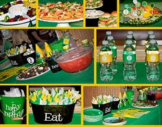 John Deere Party - love the wrapped utensils
