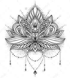 Geometric Tattoo Lotus, Lotus Mandala Tattoo, Lotus Flower Tattoo Design, Lotus Flower Mandala, Flower Tattoos, Tigh Tattoo, Tattoo Femeninos, Body Art Tattoos, Sleeve Tattoos