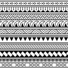 Vector ethnic seamless pattern in maori tattoo style. Geometric border with deco. - Vector ethnic seamless pattern in maori tattoo style. Geometric border with decorative ethnic eleme - Tattoo Band, Hawaiianisches Tattoo, Tattoo Style, Tattoo Bracelet, Maori Tattoo Arm, Maori Tattoo Meanings, Samoan Tattoo, Maori Designs, Polynesian Tattoo Designs