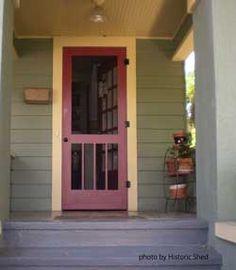 1000 images about vintage screen doors on pinterest for Wood front door with storm door