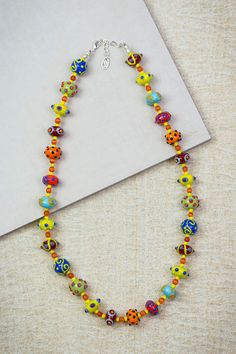 Colorful Lampwork Necklace by ADKTahoe