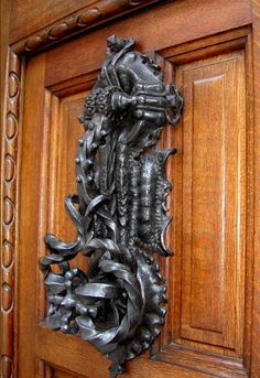 Casa Calvet Wrought Iron Door knock, designed by Antoni Gaudi