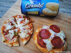 Pillsbury Grands Mini Pizzas- Charleigh would like these @Laura Jayson Jayson Jayson Jayson Ingram
