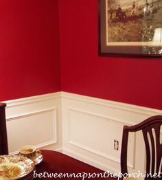 Dining Room Upgrade Add Picture Molding Beneath A Chair Rail