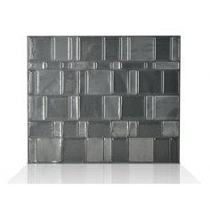 Tango Onyx Smart Tiles - Dark Grey (Metallic), Medium Grey (Metallic) #backsplash