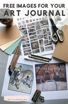 Free Vintage Animal Ephemera for Your Art Journal Art Journal Prompts, Art Journal Techniques, Art Journal Pages, Art Journals, Journal Ideas, Junk Journal, Vintage Ephemera, Vintage Art, Embossing Techniques