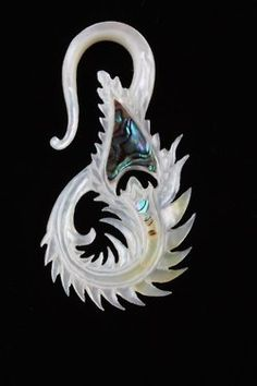 Mother of Pearl peacock design with abalone shell by Buddha Jewelry