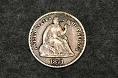 old coin; original by dukatshopping on Etsy Silver Quarters, Old Coins, Silver Coins, Liberty, United States, The Unit, The Originals, Etsy, Political Freedom